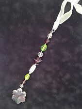 Handmade Suncatcher Vintage Crystal & Beads Window Hanging Decoration Ornament