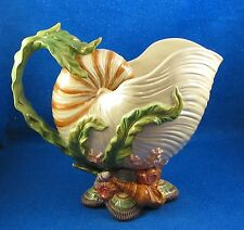 "Fitz and Floyd Classics:  ""Oceana"" Seashell & Coral Pattern Large Pitcher *ISW*"