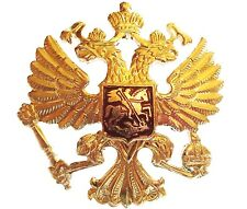 RUSSIAN MILITARY 2 HEADED EAGLE BADGE genuine Soviet army cap USSR jacket pin
