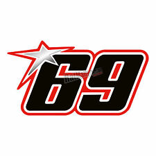 NICKY HAYDEN WSB MOTOGP STYLE CUSTOM RACE NUMBERS x3 ** Your number **