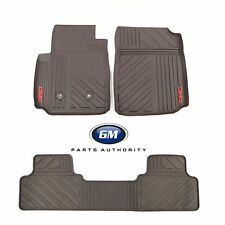 15-17 GMC Canyon Crew Cab Premium All Weather Front & Rear Floor Mats Cocoa OEM