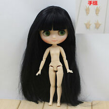"8""Neo Middie Blythe Doll Black Hair Nude Doll from Factory 99008+Gift(Hand set)"