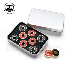8Pcs 608RS Black Balls Ceramic Bearings For Skateboard&Hand Spinner