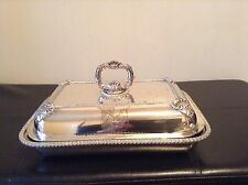 Rare Ducal Crested Antique Sheffield Silver Plated Entree Serving Dish