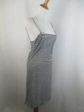 BCBG MAX AZRIA WOMENS SZ S SMALL BLACK WHITE STRIPED SLEEVELESS STRAPPY DRESS