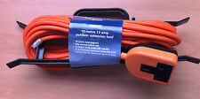 10m 1 Socket 13a Cable Extension Lead Outdoor Heavy Duty Orange Good Quality