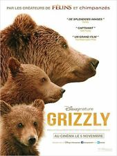 Affiche 120x160cm GRIZZLY (BEARS)  Alastair Fothergill - Documentaire NEUVE