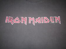 Iron Maiden Logo Tee Shirt Heavy Wear Soft Distressed Metal Tee Shirt Large