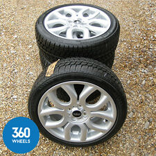 "NEW GENUINE MINI 17"" FLAME SPOKE COOPER S 97 WINTER ALLOY WHEELS RUNFLAT TYRES"