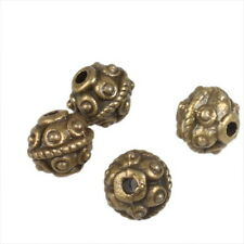100x Bronze Vintage Alloy Spacer Charms Bead 6mm 111323