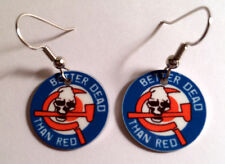 ANTI COMMUNIST AGAINST COMMUNISM BETTER DEAD THAN RED EARRING SET skinhead girl