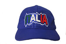 "ITALIA BLUE ""ITALIA"" WITH COLORED LETTERS ON BRIM COUNTRY FLAG EMBOSSED HAT CAP"