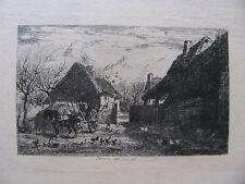 JULES JACQUES VEYRASSAT, PARIS 1828 -1893 . COUR de FERME SAMOIS . 2 RADIERUNGEN