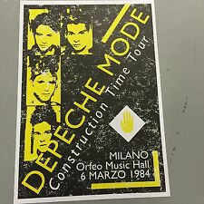 DEPECHE MODE - CONCERT POSTER MILANO ITALY 6TH MARCH 1984     (A3 SIZE)