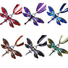 Women Fashion Dragonfly Charms Necklace With Chain Rhinestone Inlay Gemstone