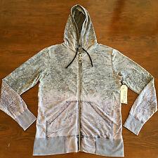 Kinetix Zip Hoodie in Gray Purple Mens size M NWT