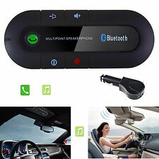 Bluetooth Multipoint Speaker Handsfree Car Kit Visor Clip For Apple iPhone 7 6 5