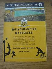 28/10/1961 Wolverhampton Wanderers v Manchester City  (tea ring mark on front co