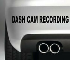 DASH CAMERA RECORDING STICKER FOR CAR BODYWORK WNDOW SECURITY POLICE PROTECTION