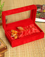 LUXURY GOLD COLOUR ROSE FLOWER IN BOX GIFT VALENTINES MOTHERS DAY ANNIVERSARY