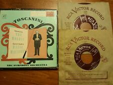 Vintage RCA VICTOR Red Seal Record Toscanini Conducts 2- RPM 45 in Original Box