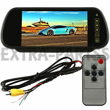"7"" TFT LCD Color Touch Screen Mirror Monitor for Car Dvd VCR rearview Camera NEW"