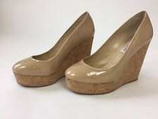 Jimmy Choo Nude Wedges Size 37.5
