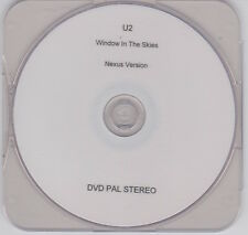 "U2 - Window In The Skies - Ultra rare 1 track promo ""Nexus Version"" PAL DVD"