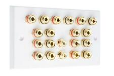 9.2 Speaker Audio Wall Face Plate - White - NO SOLDERING REQUIRED