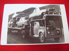 NEW 1949 FORD 'S ON CAR HAULER   BIG  11 X 17  PHOTO PICTURE