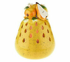QVC Kitchen Table Fruit Decoration Luminary w/ Flameless Candle and Timer - PEAR