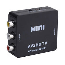 720p/1080p Mini Composite AV CVBS 3RCA to HDMI Video Converter Adapter Black