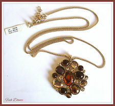 MONSOON ACCESSORIZE GOLD NECKLACE WITH MULTI COLOURED PENDANT. TICKET PRICE £14