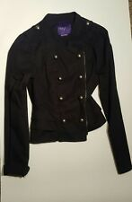 Miley Cyrus Max Azria Black Jacket Size Large Button Fashion