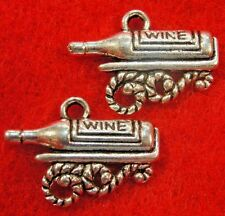 50Pcs. WHOLESALE Tibetan Silver WINE BOTTLE Charms Pendants Earring Drops  Q0593