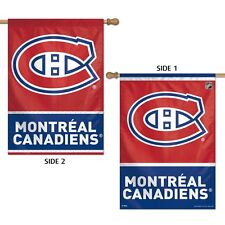 "MONTREAL CANADIENS LOGO 28""X40"" DOUBLE SIDED BANNER FLAG BRAND NEW WINCRAFT"