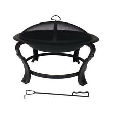 "Hampton Bay Ashcraft 30"" Steel Round Fire Pit Outdoor Family Backyard Patio Deck"