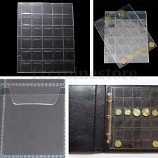 Classic Coin Album Page Holder 30 Clear Pockets Per Page Collector Storage Case