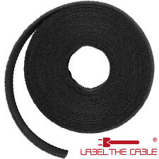 LABEL THE CABLE LTC ROLL - double-sided touch fastener ROLL, 9 10/12ft, black
