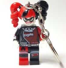 DC Comic Batman Movie HARLEY QUINN  KEYRING  BAGCHARM Custom Minifigure Fit Lego