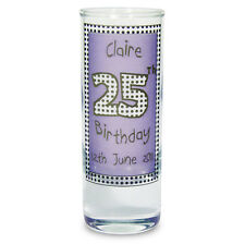 Personalised Happy Birthday Shot Glass for Women Her 18th 21st 30th 40th Gift