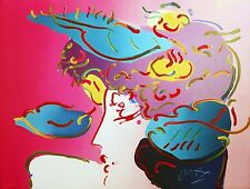 """PETER MAX """"FLOWER SPECTRUM"""" 1990 