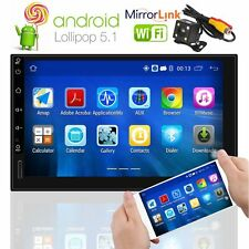 7''Android 5.1 Double 2Din Wifi 3G Autoradio Car GPS Bluetooth Stereo Player USB