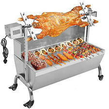 """45"""" Spit Roaster Rotisserie Pig Lamb Roast BBQ Portable Outdoor Cooker Grill 88L"""