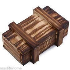 Intelligence Magic Puzzle Wooden Secret Box Compartment Gift Brain Teaser New