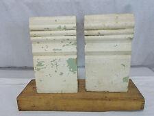 Vintage Wood Plinth Block Trim Architectural Antique Excellent Condition Salvage