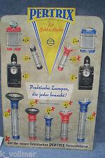 ✪alte original Reklame Pappe Schild Werbepappe Aufsteller Petrix Licht Radio