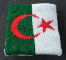 Algeria Algerian Algerie Drapeau Tennis Wristband All Sport Cotton Band