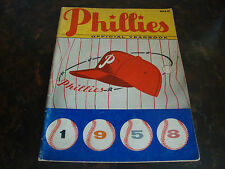 Philadelphia Phillies---1958 Yearbook