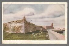[50876] OLD POSTCARD FORT MARION WATER BATTERY in St. AUGUSTINE, FLORIDA